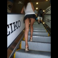 No Panty Upskirt - Heels, Long Legs, Upskirt, Bald Pussy, Sexy Legs , White T Shirt, Pantieless Girlfriend Upskirt, Mini Skirt Long Legs, Up Her Skirt Snatch View, Sexy Long Legs, Upskirt Escalator, Short Skirt