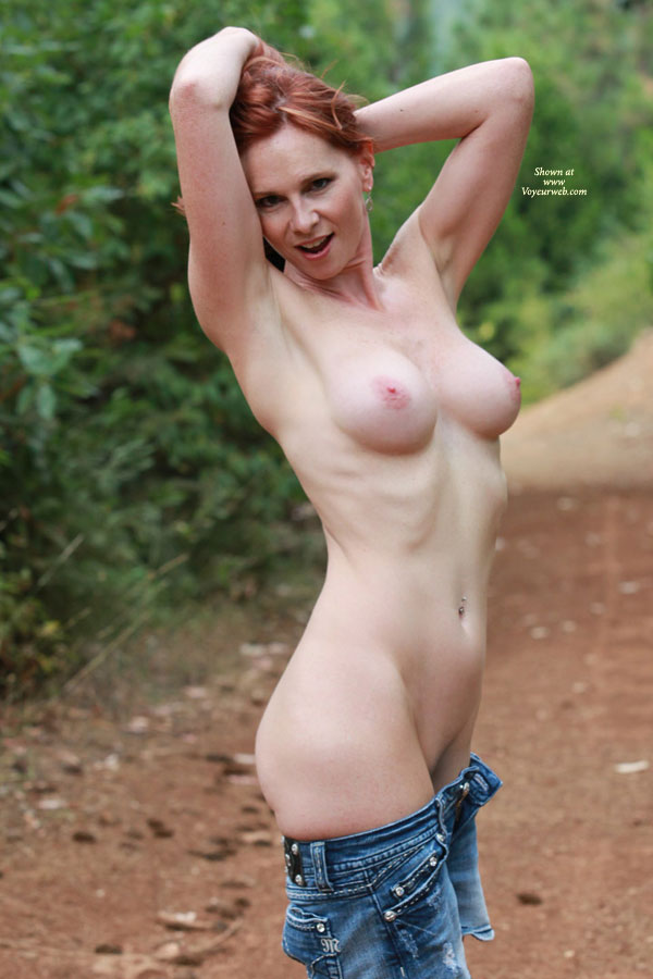 Nude Milf Showing Armpit - Big Tits, Milf, Navel Piercing, Nude Outdoors, Naked Girl , Hands In Her Hair, Pink Titties, Outdoor Nude Shot, Nude In Nature, Redhead, Smooth Pits And Soft Tits, Freckled Red