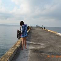Short Skirt By The Dock