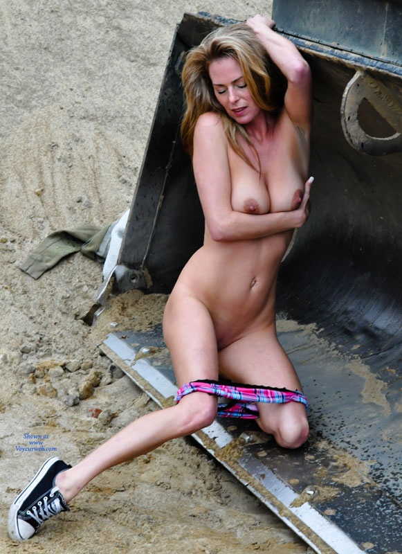 Pic #1 - Sexy Nude MILF At Construction Site - Exhibitionist, Milf, Naked Girl , Cold Steel, Showing One Armpiz, Dark Brown Npples, Sexy Slender Body, Holding Her Tender Tits, Pantieless Me, Exhibitionist At Construction Site, Nude Girl With Sneakers, Naked Slim Milf