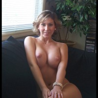 Topless On A Couch - Big Tits, On The Couch, Sexy Boobs
