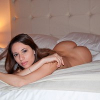 Nude Italian Girl On Bed - Brunette Hair, Long Hair, Naked Girl, Sexy Ass, Sexy Face, Sexy Woman