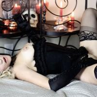 Dressed To Kill - Erect Nipples, Stockings, Naked Girl