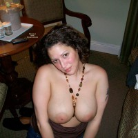 Wife's Big Tits - Big Tits, Dark Hair, Large Aerolas, Topless