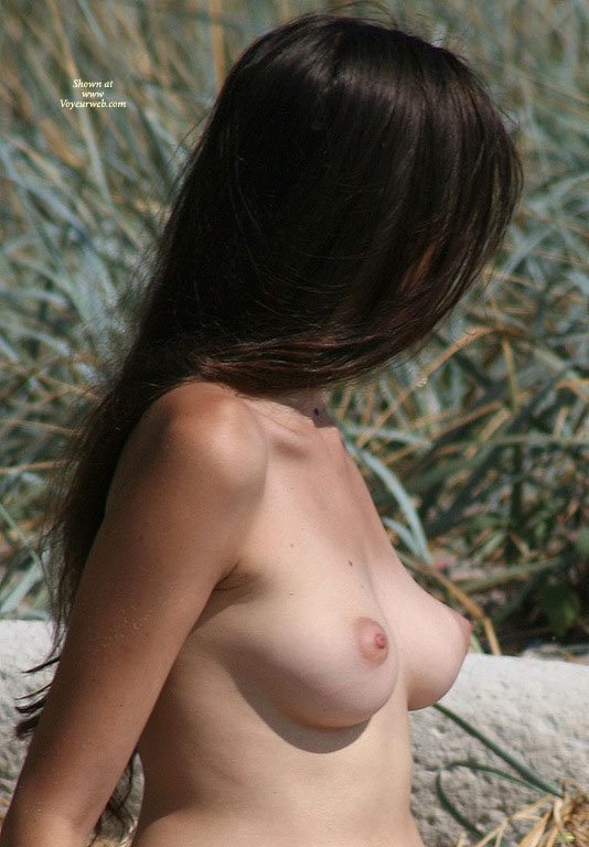 Upturned Nipples - Black Hair, Firm Tits, Long Hair, Perky Tits, Topless , Pink Areoles, Pink Areoals And Nipples, Side View Of Beautiful Boobs, Sunning Her Perkies, Round Nipples, Outdoor Topless, Firm And Perky Tits, Long Black Hair Hiding Face, Pointy Nipples