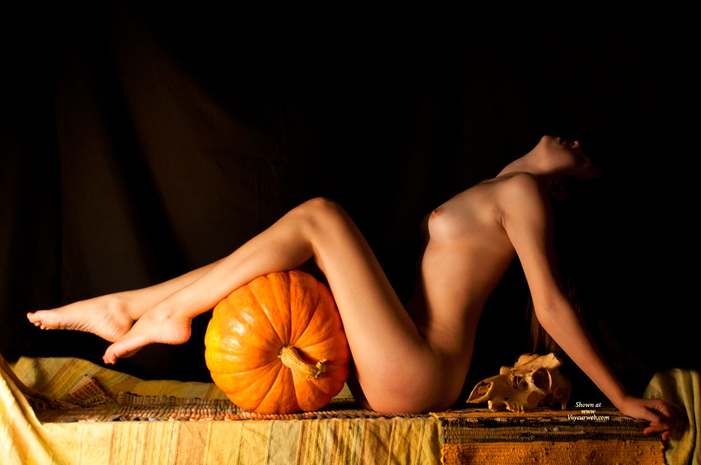 Pic #1 - Nude Sexy Slim Girl With Pumpkin Profile - Long Legs, Small Tits, Nude Wife, Sexy Girl, Sexy Woman , Stretched Feet, Pumpkin Eater, Stretched Legs, Firm Titties, Sexy Tits, Trick Or Treat, Nude With Legs Resting On A Pumpkin, Long Firm Legs