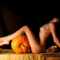 Nude Sexy Slim Girl With Pumpkin Profile - Long Legs, Small Tits, Nude Wife, Sexy Girl, Sexy Woman