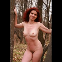 Firery Red Head Nude In Woods - Erect Nipples, Firm Tits, Long Hair, Natural Tits, Nude Outdoors, Perfect Tits, Red Hair, Small Breasts, Naked Girl, Nude Amateur, Small Areolas