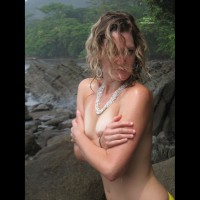 Wet In Costa Rica - Blonde Hair, Blue Eyes, Topless, Nude Amateur