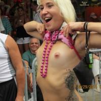 Flashing Her Pierced Nipples - Flashing, Pierced Nipples