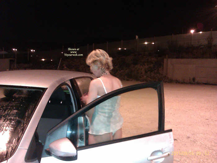 Pic #1 G Strips In The Car Park And Rides Home Naked