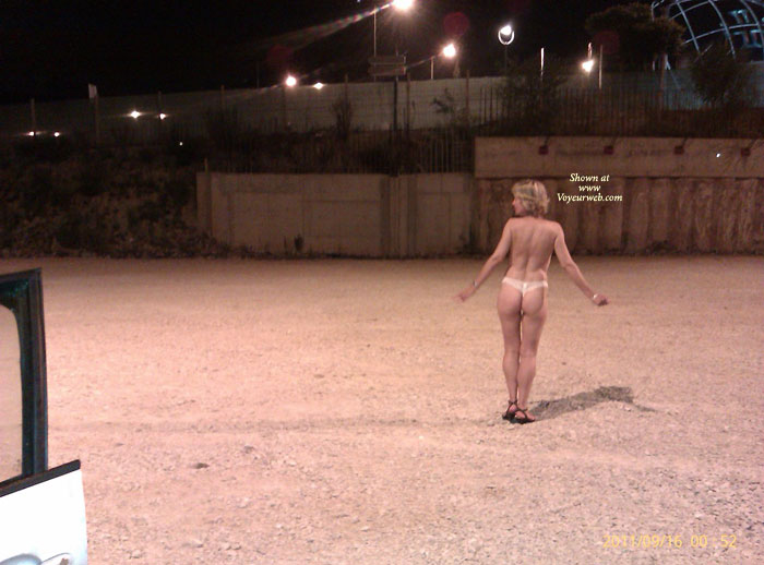 Pic #2 G Strips In The Car Park And Rides Home Naked
