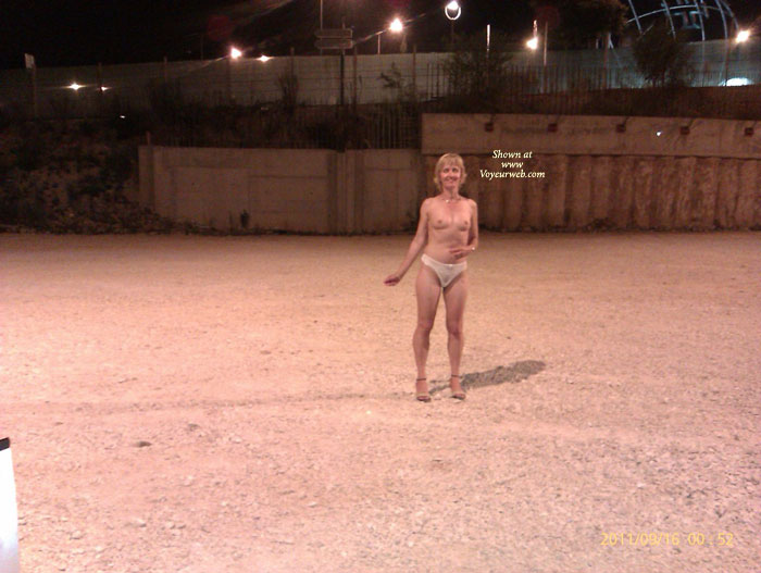 Pic #3 G Strips In The Car Park And Rides Home Naked