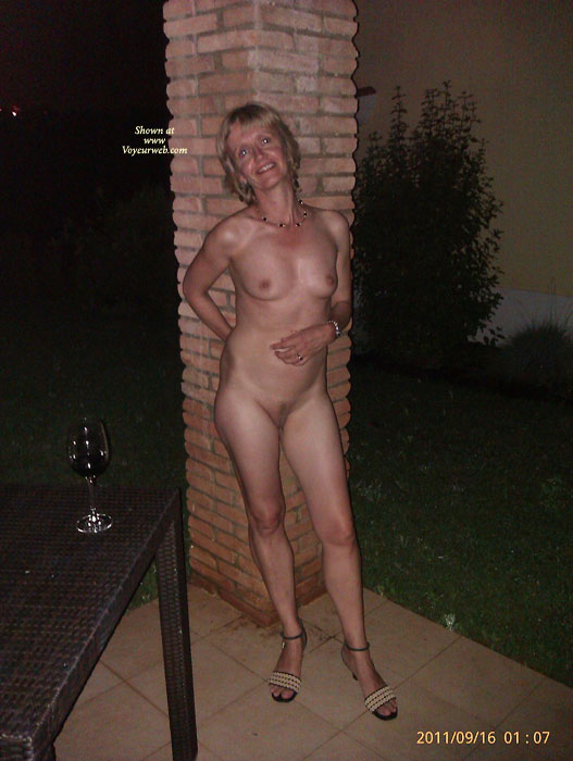 Pic #9 G Strips In The Car Park And Rides Home Naked
