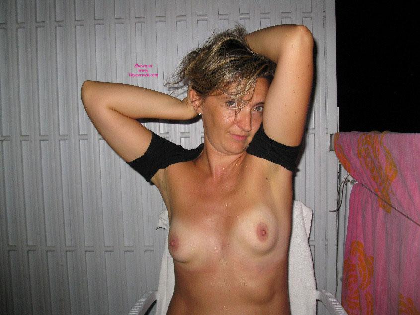 Pic #1 - Masturbate On Balcony , Nice Evening To Masturbate Outdoor