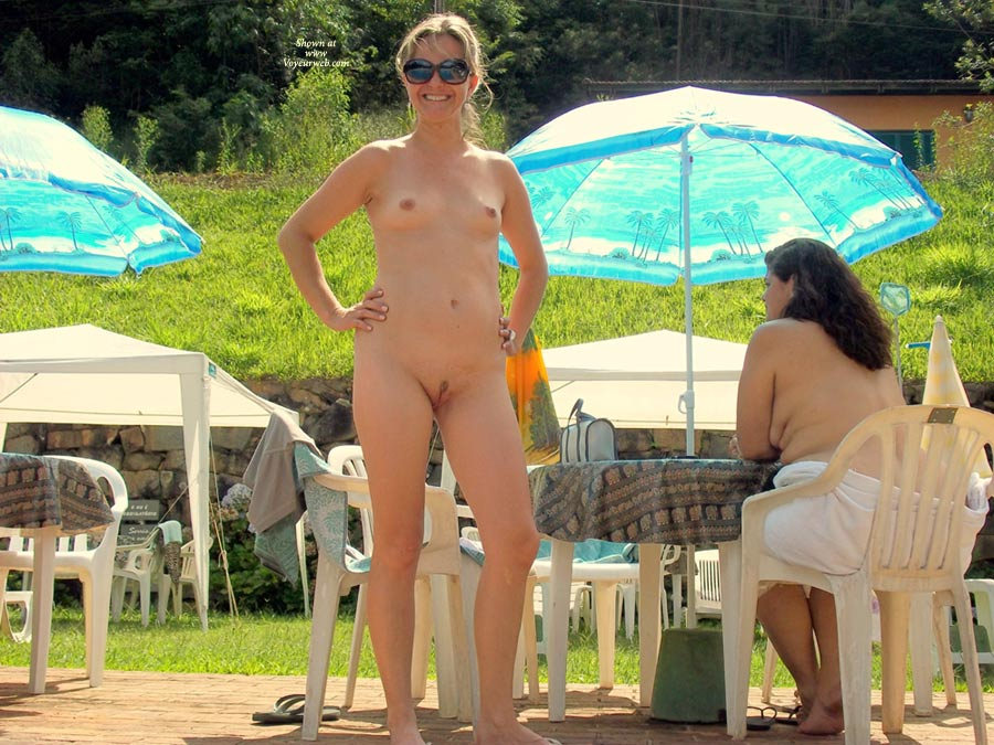 Pic #1 - Paradise Pool , My Sweet Wife, Nude In Public