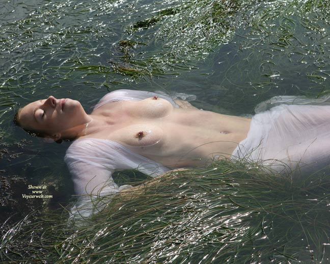 Pic #1 - Floating Beauty - Erect Nipples, Topless , In Water, Very Flat Stomach, Nipples And Nose Above Water, Floating, Topless Floating, Nipples In The Lake, Hard Nips, Lying In Water, See Through