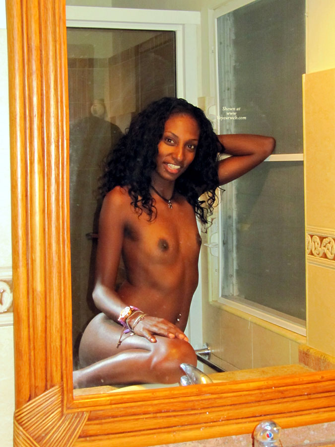 Pic #1 - Nude Girl In The Mirror - Black Hair, Long Hair, Small Breasts, Small Tits, Topless, Naked Girl , Very Small Breasts, Sexy Flat Boobies, Flat But Erotic, Topless Wife's Friend, Long Black Hair