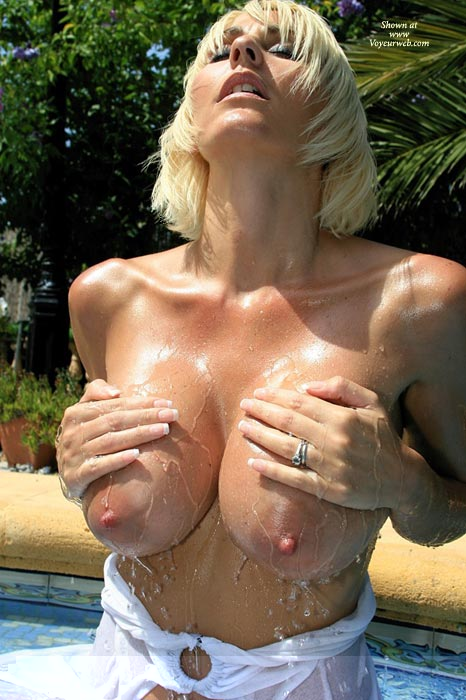 Pic #1 - Wowser - Wet , Wowser, Playing With Big Boobs, Wet Tits, Swimming Pool, Slippery Nipples