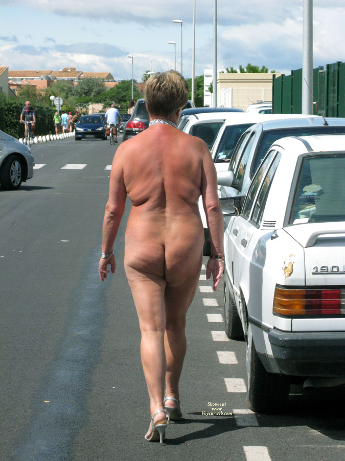 naked walk on a road