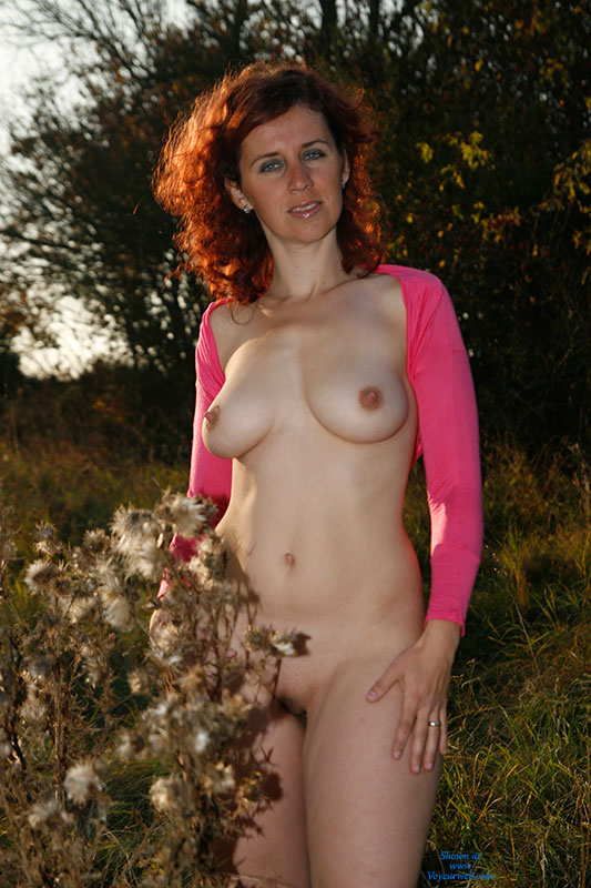 Hot Afternoon 2 , Cheerful Autumn Walk With Lenka Was Really Amazing. Lenka's Nipples Were Warming Up For Great Photography.