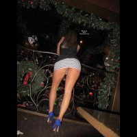 New Years Club Girl - Heels, Long Legs, Upskirt, Bald Pussy