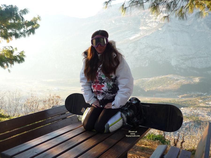 Pic #1 - First Time - Snowboard Time , Morgana In The Mountains Snowboarding, After Skiing. Because   She Little Having A Snow , We Made two Photos! (With The Car On The Street :) !! )  Morgana In Montagna A Fare Snowboard, Dopo La Sciata.. Vista La Poca Neve Abbiamo Fatti Due Foto!! (con Le Auto Sulla Strada :) !! )  Kiss/Baci