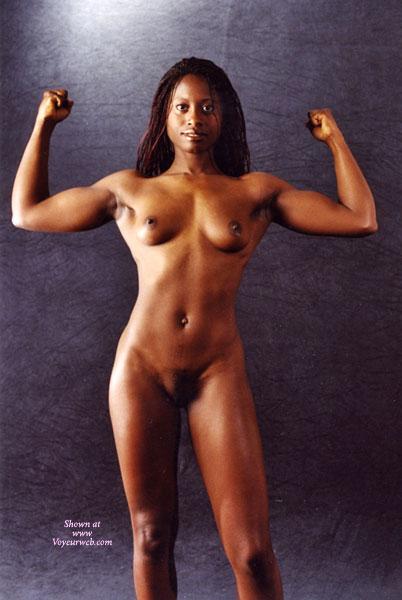 Pic #1 - Black Body Builder , Black Body Builder, Woman Flexing, Small Round Boobs, Curvey Body