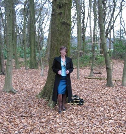 Pic #1 - Ann 53 Striptease In Woods 1