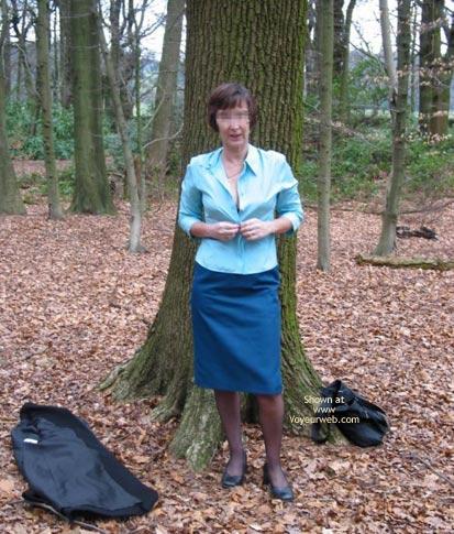 Pic #3 - Ann 53 Striptease In Woods 1