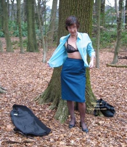 Pic #4 - Ann 53 Striptease In Woods 1