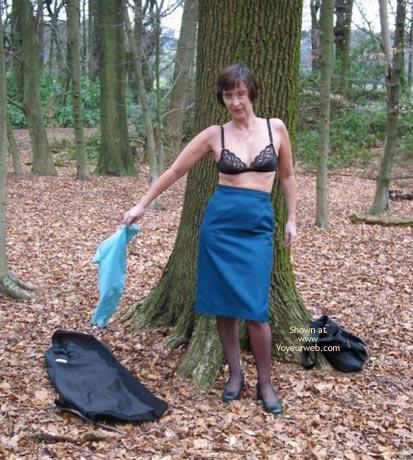 Pic #5 - Ann 53 Striptease In Woods 1