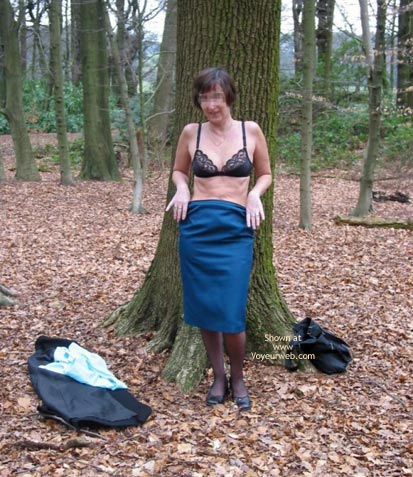 Pic #6 - Ann 53 Striptease In Woods 1