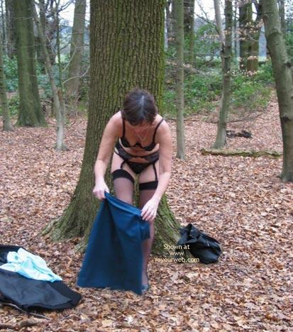 Pic #8 - Ann 53 Striptease In Woods 1