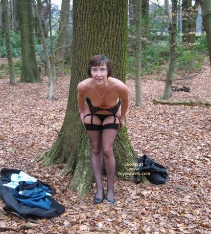 Pic #2 - Ann 53 Striptease In Woods 2