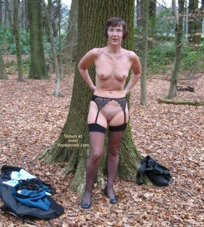 Pic #4 - Ann 53 Striptease In Woods 2