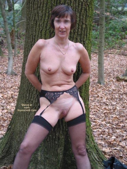 Pic #5 - Ann 53 Striptease In Woods 2