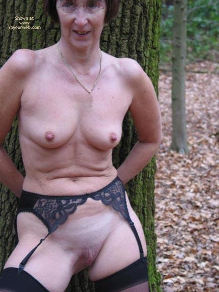 Pic #6 - Ann 53 Striptease In Woods 2
