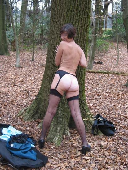 Pic #7 - Ann 53 Striptease In Woods 2