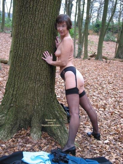 Pic #8 - Ann 53 Striptease In Woods 2