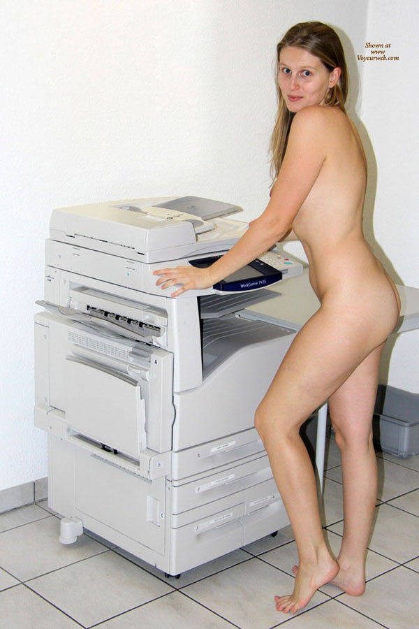 That Amateur girl naked at work