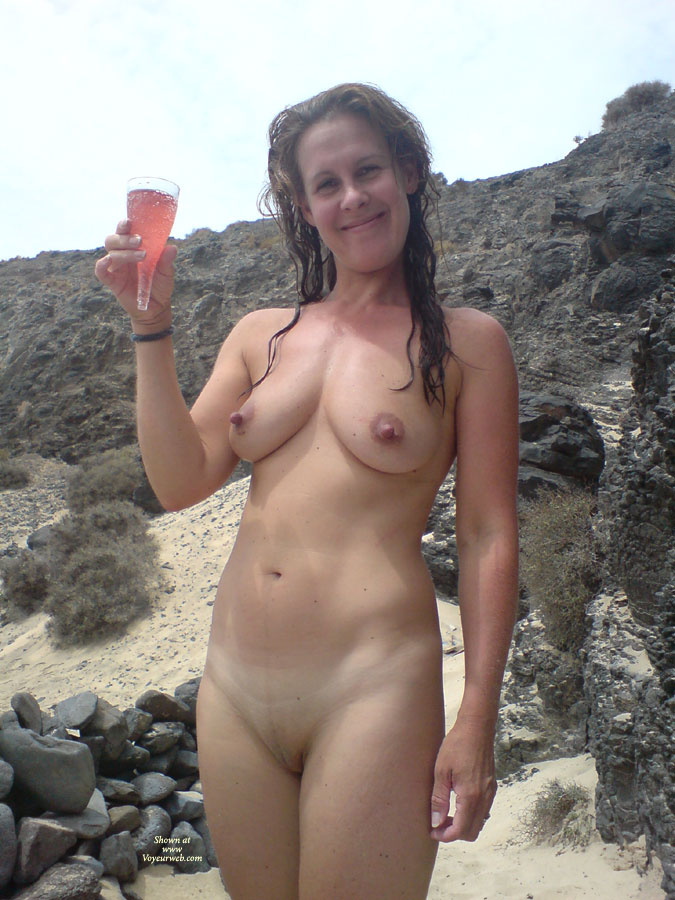 wife at nude beach