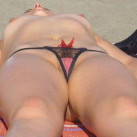 Erotica En La Playa - Landing Strip, Shaved Pussy, Topless