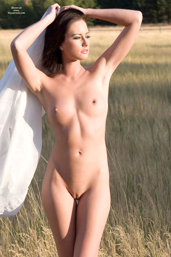 Pic #1 - Nude Sexy Woman In Field - Dark Hair, Erect Nipples, Shaved Pussy, Small Breasts, Small Tits, Bald Pussy, Nude Amateur, Sexy Woman , Stiff Nipples, Frontal Nude, Hands On Her Head, Thin Body, Golden Hour Photo, Dear In The Meadow, Bald Pussy And Showing Her Armpits