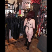 Naked And Kinky In A Busy Sex Shop