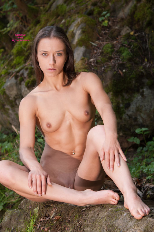 Natural Setting Nude Girl - Brunette Hair, Small Tits, Naked Girl , Navel Piercing, Cute Face, Nude Co-worker, Green Eyes, Nude Outdoors, Short Hair, Open Legs, Clit Piercing, Sitting Upright On Ass