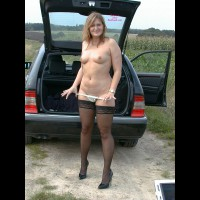 Horny In A Benz Outdoors Part 2