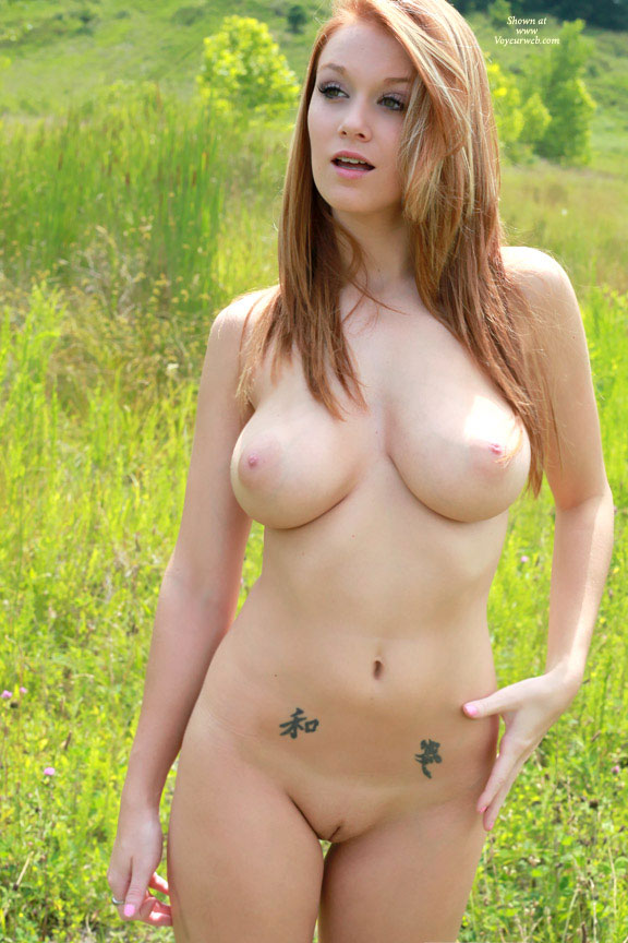 Frontal Nude Standing In Field