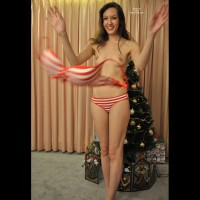 Becky's Christmas Gift Pt1 - Brunette Hair, Erect Nipples, Long Hair, Small Tits, Topless, Naked Girl