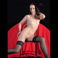 SARA: frontal nude seated on chair